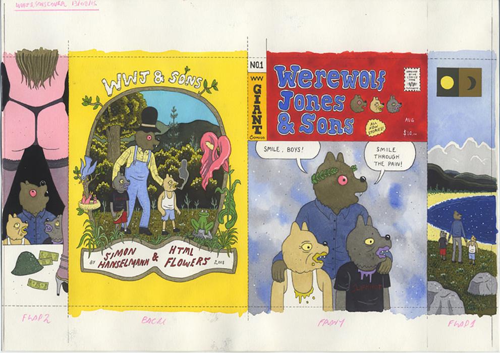 Cover for Werewolf Jones and Sons, mini comic - 2015 technique mixte sur papier - 21 x 29 cm Réf. : hanselmann-009