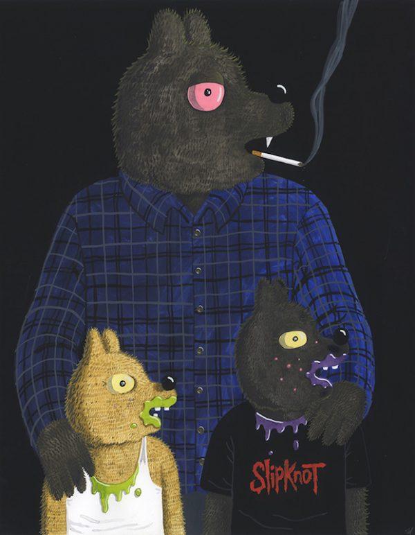 Werewolf Jones, Jaxon and Diesel - 2017 technique mixte sur papier - 61 x 48 cm Réf. : hanselmann-029