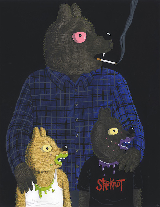 Werewolf Jones, Jaxon and Diesel - 2017 technique mixte sur papier - 61 x 48 cm Réf. : hanselmann-029