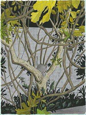 Back Cover for One More Year - 2016 technique mixte sur papier - 23 x 30 cm Réf. : hanselmann-036