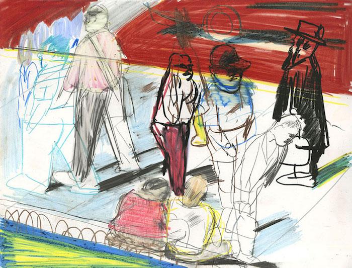 New York, 2018 pastel et crayon sur papier 32 x 25,5 Réf. : kebbi_DN19kebbi007
