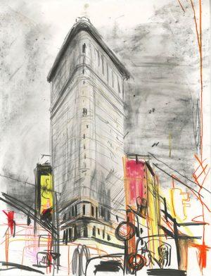 New York, 2018 pastel et crayon sur papier 32 x 25,5 Réf. : kebbi_DN19kebbi009
