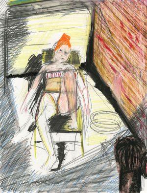 New York, 2018 pastel et crayon sur papier 32 x 25,5 Réf. : kebbi_DN19kebbi014