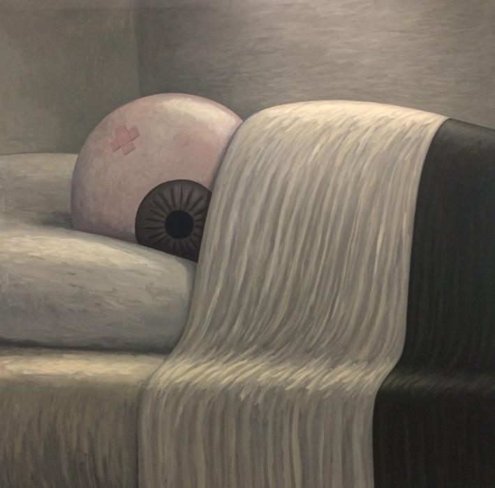 Ahi, Sparadrap - 2006 acrylique sur toile - 150 x 150 cm Réf. : matticchio051