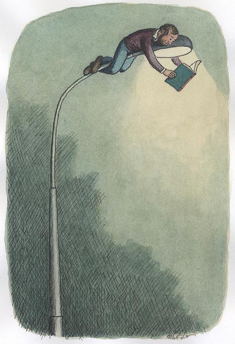 Catalogo Einaudi - 2008 encre de chine et aquarelle sur papier - 18 x 22 cm Réf. : matticchio053