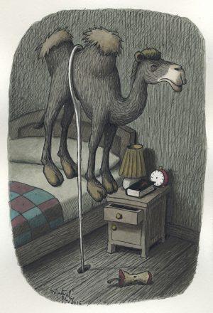 La Bufala Cosmica - 1992 encre de chine et aquarelle sur papier - 13 x 18 cm Réf. : matticchio064