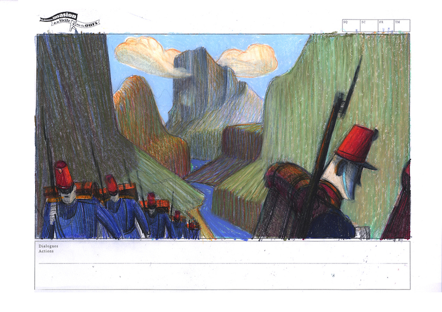 La fameuse invasion des ours en Sicile 2013 - 2019 Crayon et pastel sur papier 37 x 22 cm Réf. : mattottiours_001