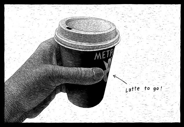 Metropolis Coffee Company, Chicago, IL carte à gratter - 22 x 15 cm Réf. : ott002