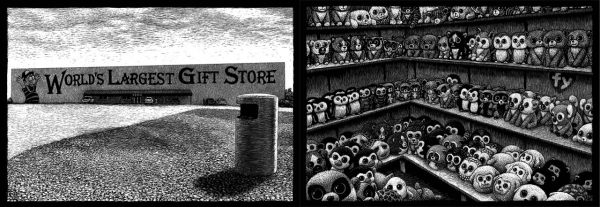 World's Largest Gift Store, 330 W Pine St, Phillipsburg, MO carte à gratter - 47 x 15 cm Réf. : ott025