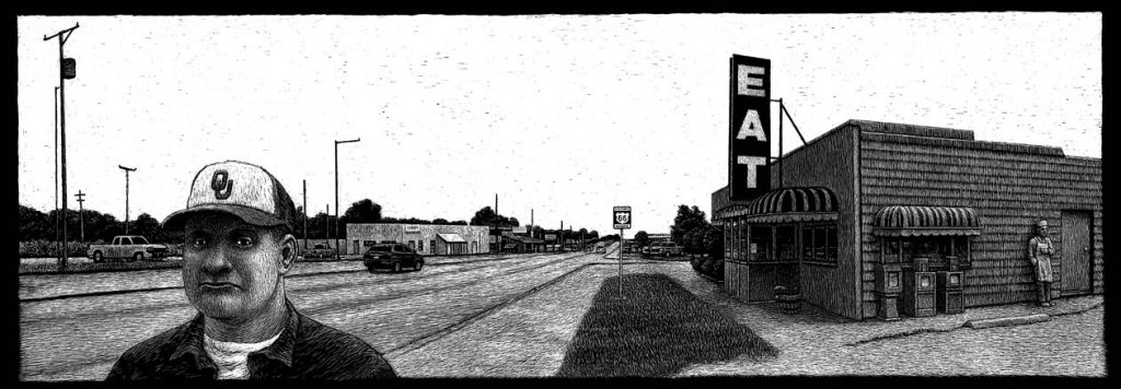 Canton's Cafe, 319 E Illinois Ave, Vinita, OK carte à gratter -44 x 15 cm Réf. : ott028