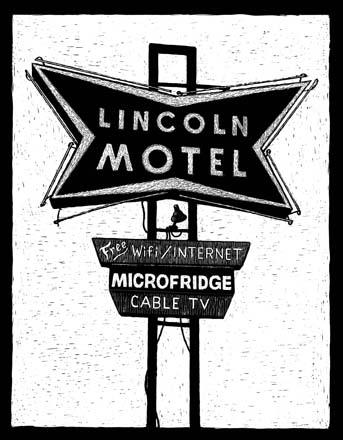 Lincoln Motel, 740 E 1st Street, Chandler, OK carte à gratter - 15 x 13 cm Réf. : ott033