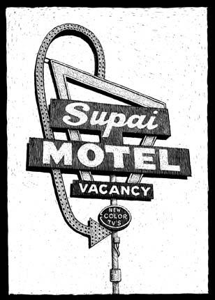 Supai Motel, 22450, AZ-66, Seligman, AZ carte à gratter - 10 x 15 cm Réf. : ott063