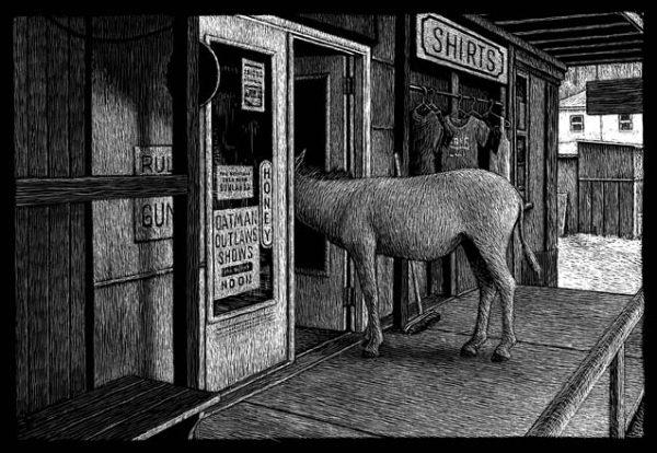 Main Street, Oatman, AZ carte à gratter - 22 x 15 cm Réf. : ott067