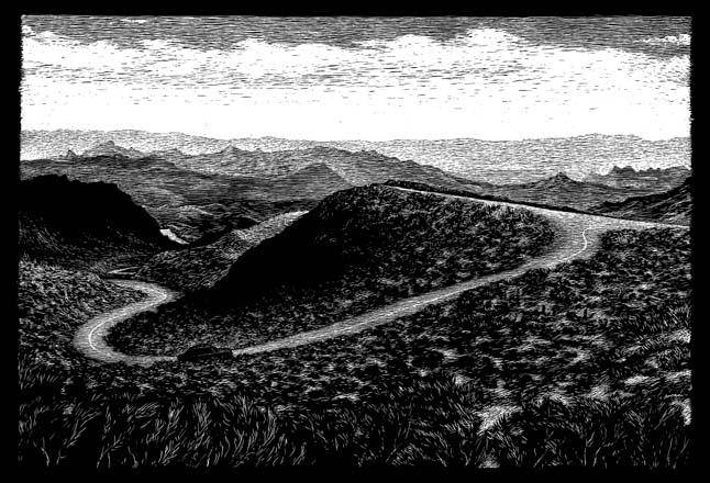 Scenic route, Oatman to Kingman, AZ carte à gratter - 22 x 15 cm Réf. : ott068