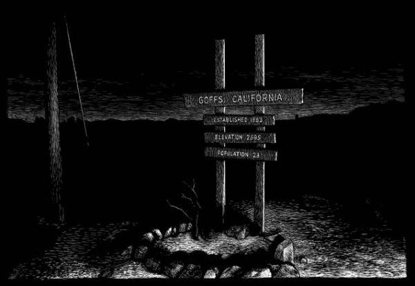 Goffs, CA carte à gratter - 22 x 15 cm Réf. : ott071