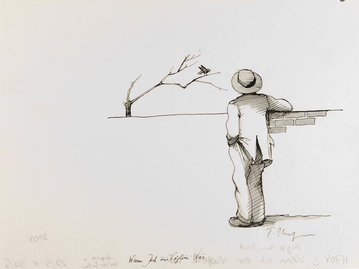 Wenn Ich ein Vogteien War - Liederbuch, 1973 Ink on translucent paper - 30,5 x 22,5 cm Réf : ungerer18_030