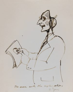 The man with the explanations - Babylon, 1976 Ink on paper - 20,5 x 25,5 cm Réf : ungerer18_056