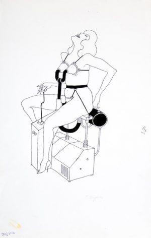 Tomi Ungerer, Fornicon, 1969 encre sur papier - 35,5 x 55,5 cm Réf : DN18ungerer001