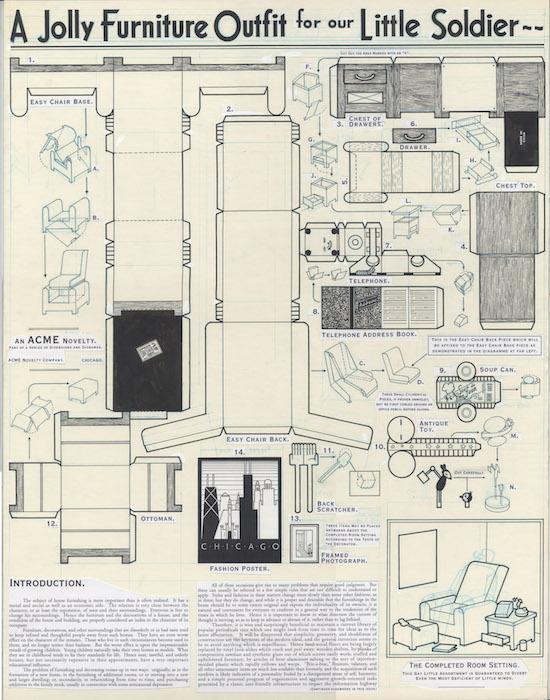 ACME 2 Inside back cover - Robot furnishings - 1993 encre de chine sur papier - 20 x 26 Réf. : ware18_017