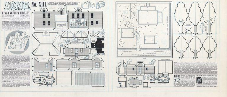 ACME 13 Inside Covers; 1893 Paper Cutout - 1997 encre de chine sur papier - 29,25 x 14 Réf. : ware18_018