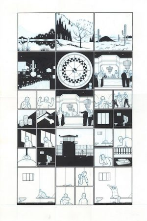 """God - Gambling - 2004 encre de chine sur papier - 20 x 30"""" Réf. : ware18_021"""