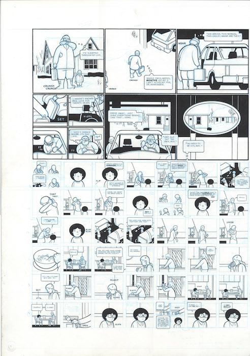 ACME 16 - Woody Brown in garage; Alice White footnotes - 2005 encre de chine sur papier - 20