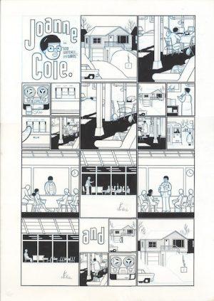 Joanne Cole - God Watches, and Waits - 2003 encre de chine sur papier - 20 x 28 Réf. : ware18_027