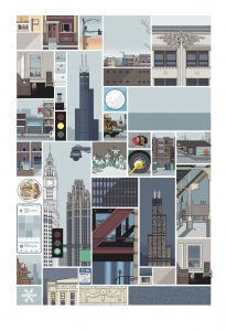 <b>Chris Ware </b><br/>The New Yorker - Chicago