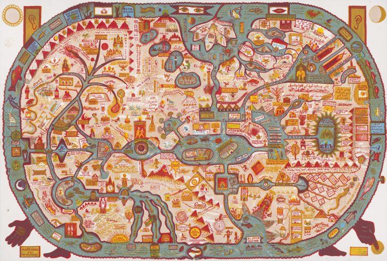 Brecht evens - Lithographie Mappamonde