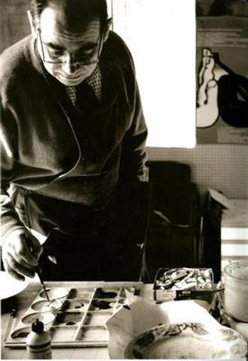Portrait de Pinter artiste peintre